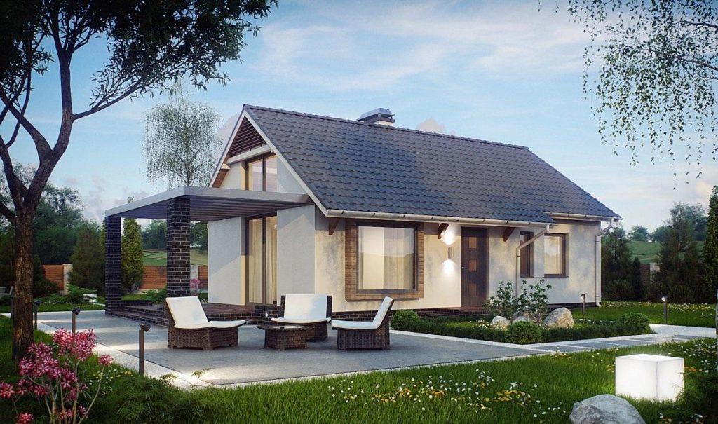 Проект дома из сип панелей 68,5 м2