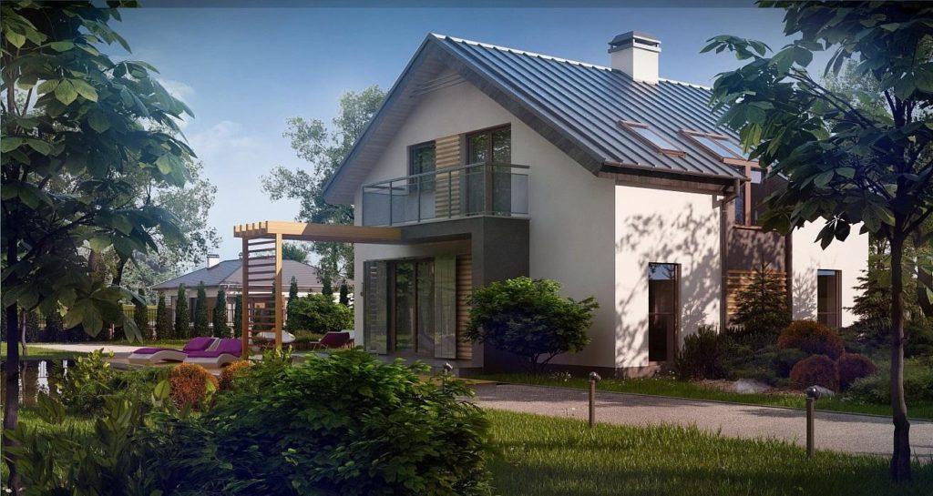 Проект дома из ракушечника 121,2 м2