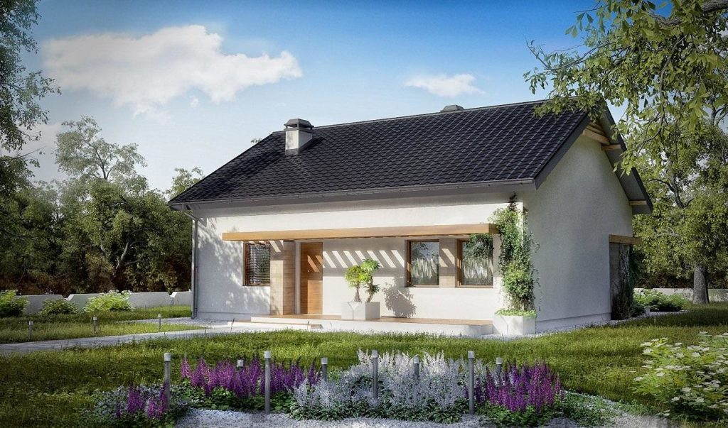 Проект дома из ракушечника 86,9 м2