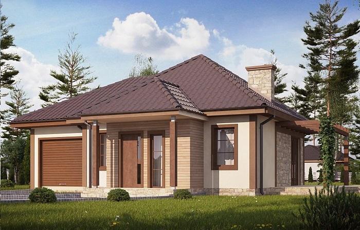 Проект дома из газобетона 68,7 м2