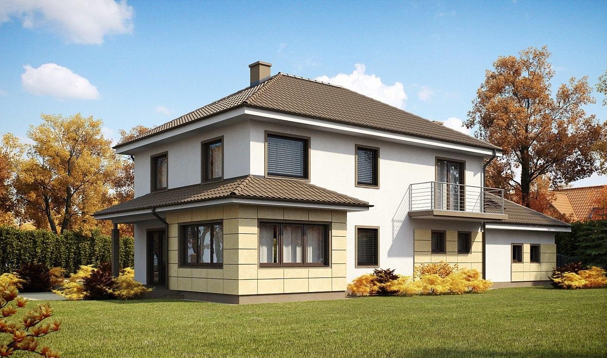 Проект дома из ракушечника 308,7 м2