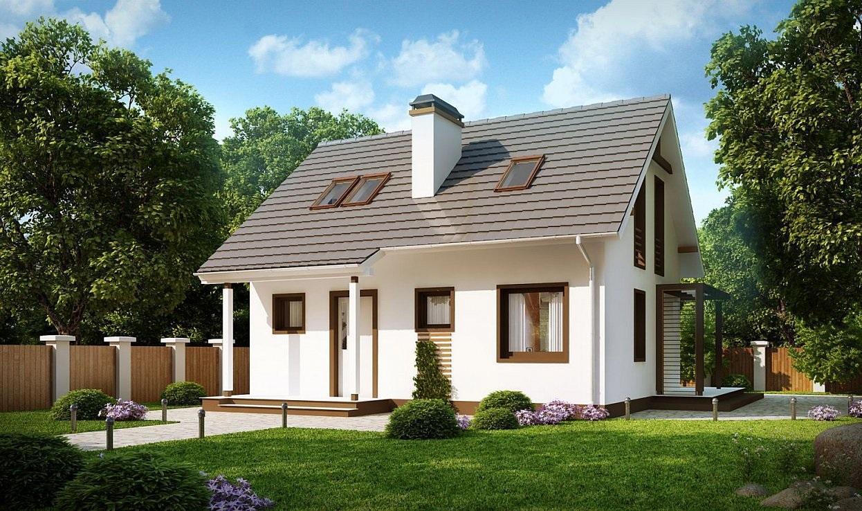 Проект дома из сип панелей 91.8 м2
