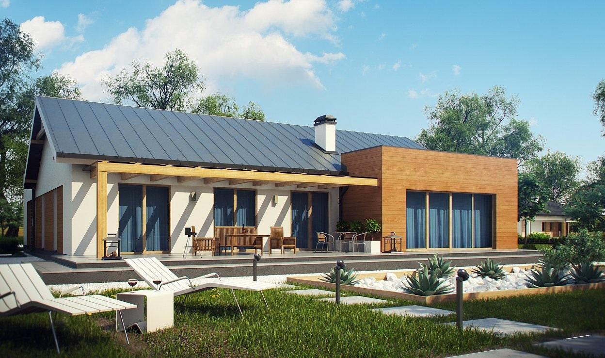 Проект дома из сип панелей 206.2 м2