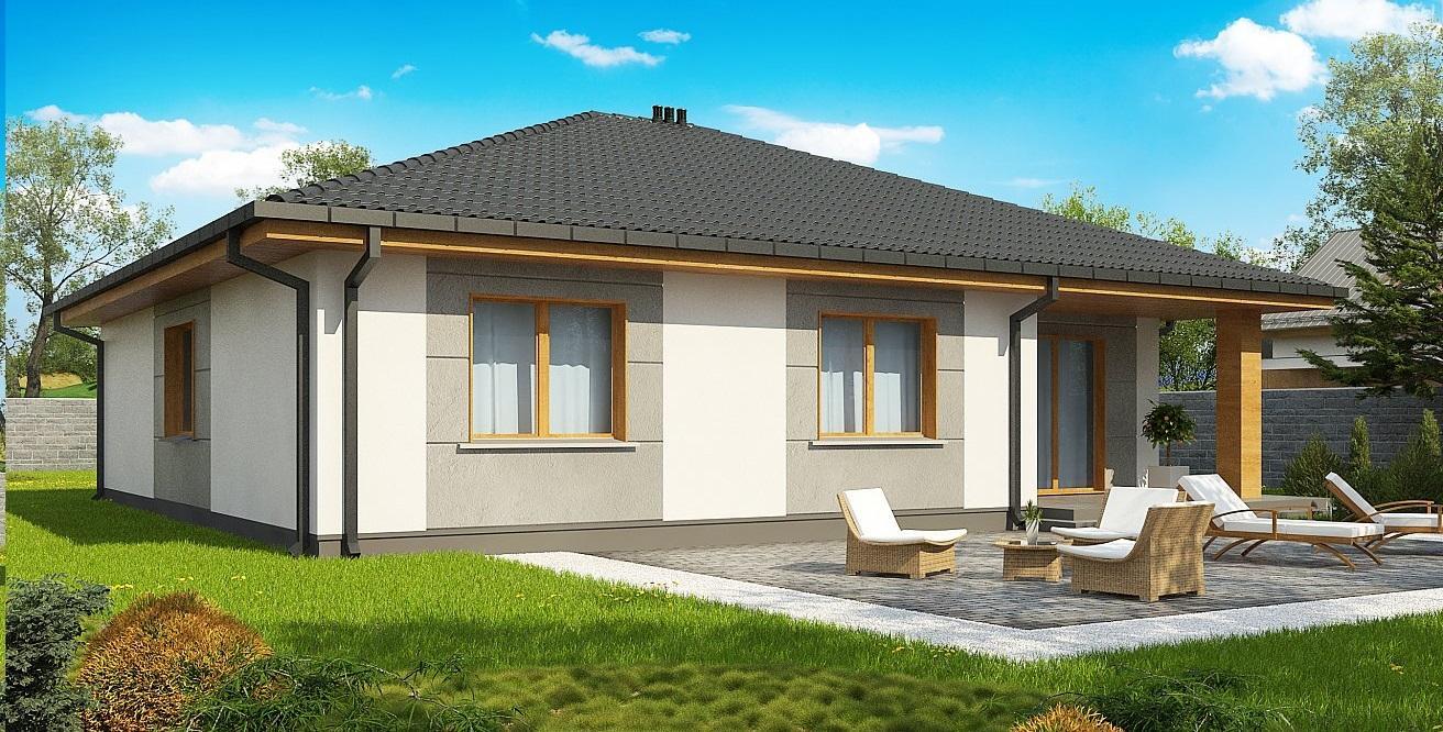 Проект дома из сип панелей 135.3 м2